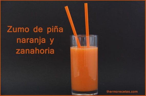 zumo-de-naranja-piña-y-zanahoria-thermorecetas