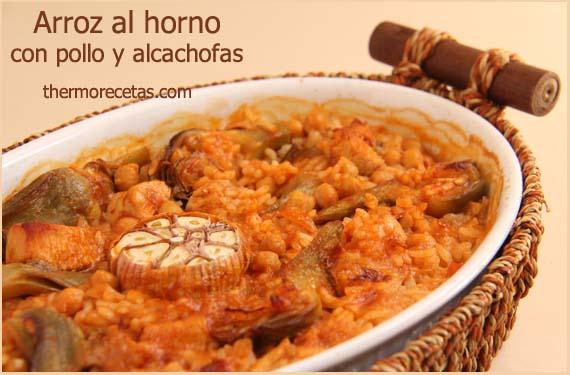 arroz-al-horno-con-pollo-y-alcachofas-thermorecetas