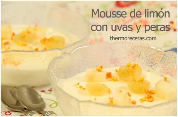 mousse-de-limón-con-uvas-y-peras-thermorecetas