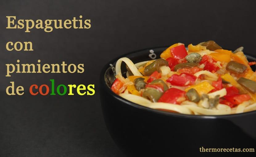 espaguetis-con-pimientos-de-colores-thermorecetas