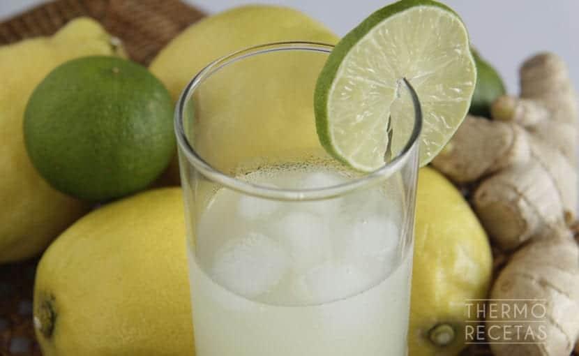 limonada-con-lima-y-jengibre-thermorecetas