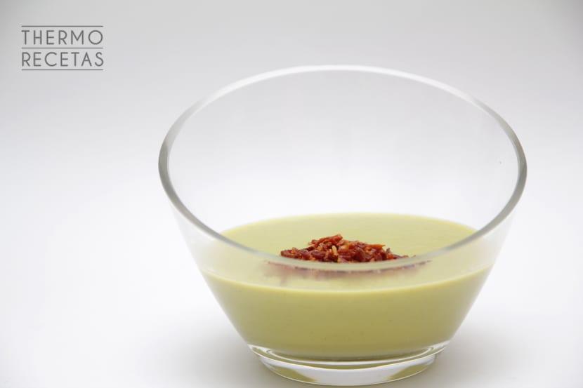 Crema de brocoli y judías verdes