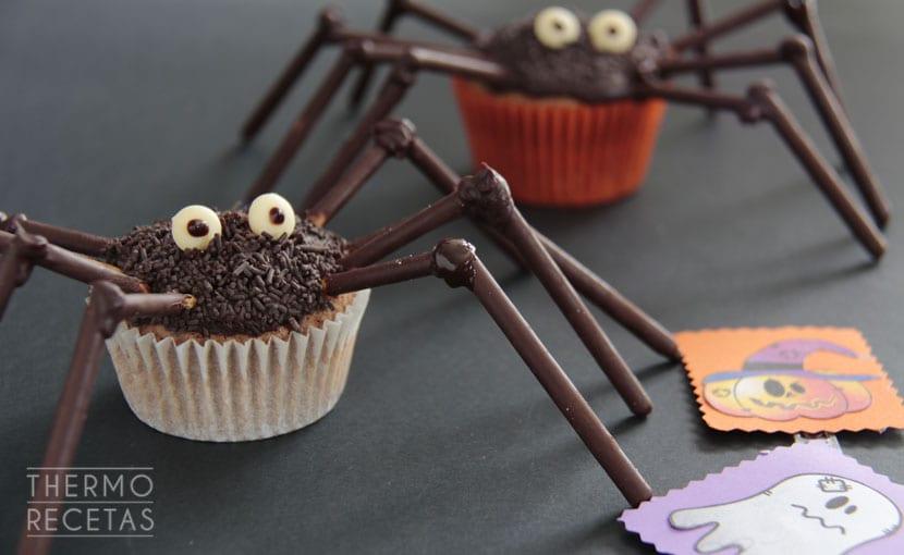 cupcakes-arañas-para-halloween-thermorecetas
