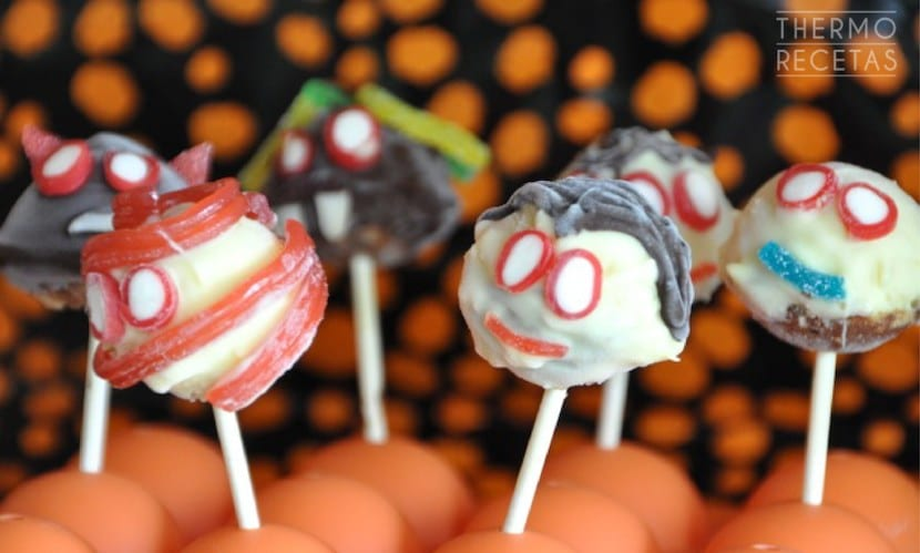 Cake pops monstruosos para Halloween
