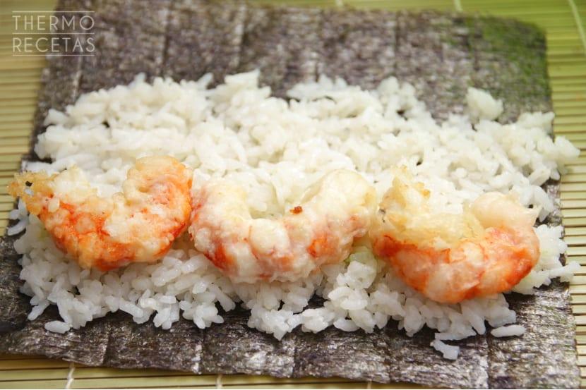 Makis gambón tempura 2