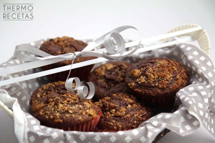 muffins 3 chocolates