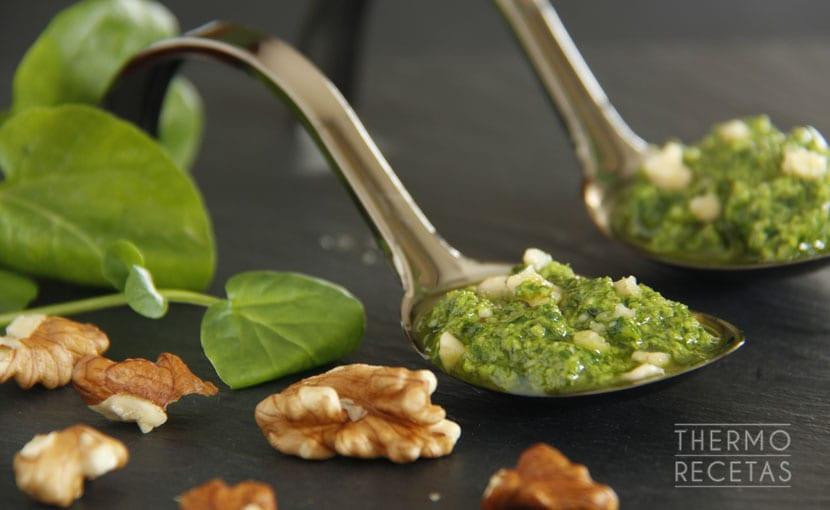 Salsa Pesto De Berros Y Nueces