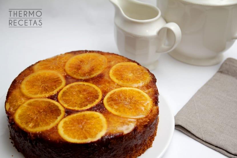 Bizcocho naranja invertida 1