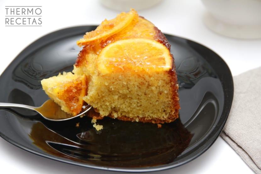 Bizcocho naranja invertida 2