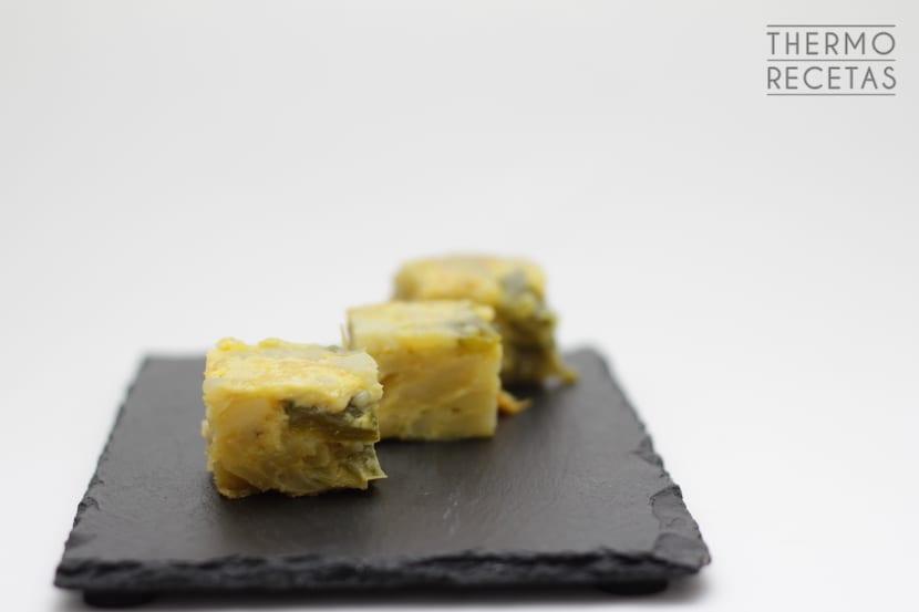 Tortilla de patatas con pimientos