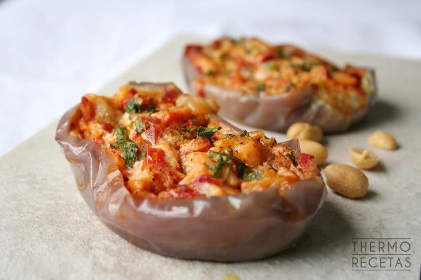 berenjenas jamon tomate