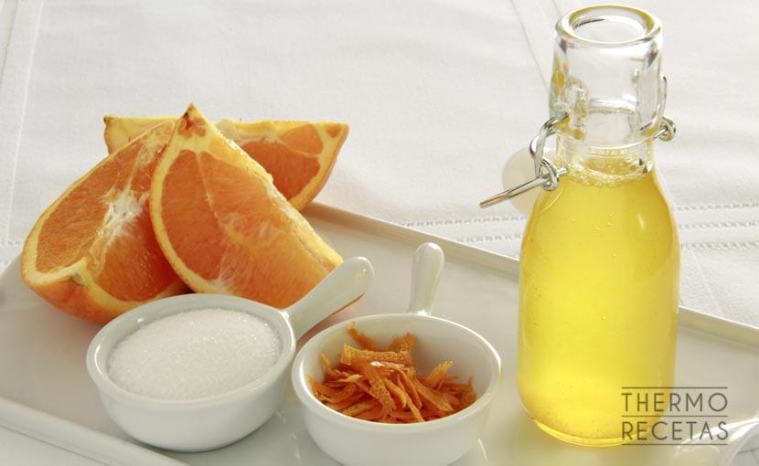 Receta básica: almíbar flojo de naranja - Recetas Thermomix
