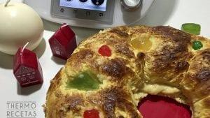 Roscón de reyes con crema pastelera