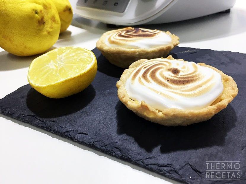 Tartaletas de limón con merengue suizo