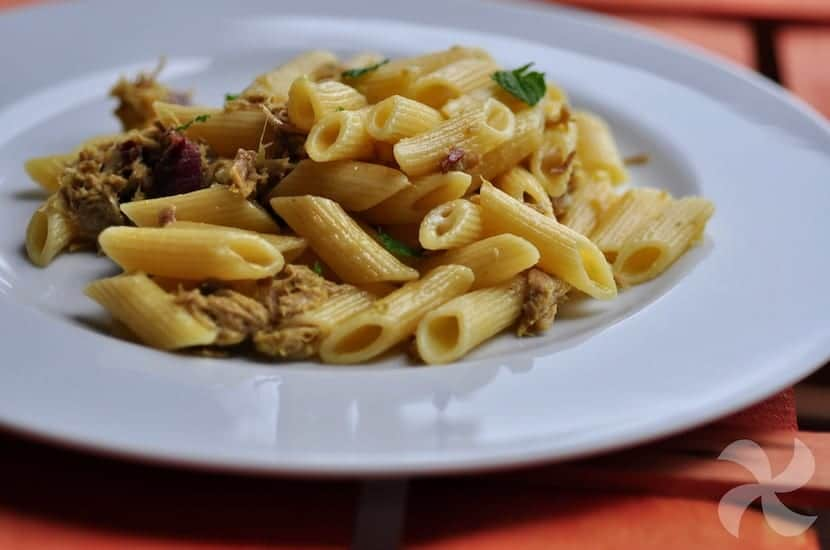 Pasta Al Curry Con Carne