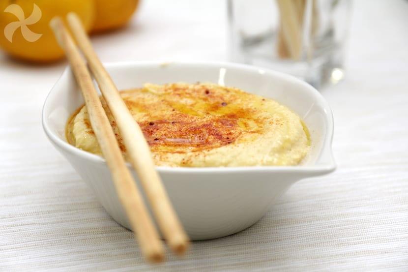 Hummus de garbanzos con mandarina y jengibre
