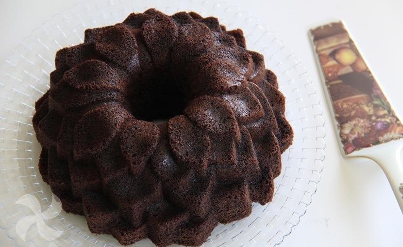 Bundt cake sin gluten y sin lácteos de chocolate y café
