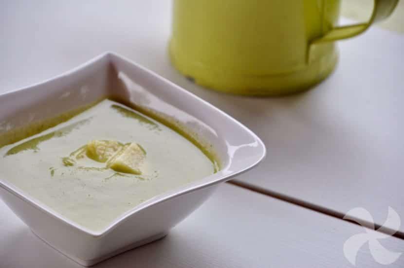 Crema de calabacín y brócoli