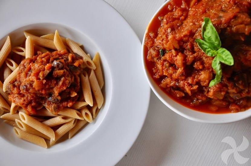 Salsa de berenjena para pasta