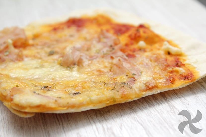 Receta pizza jamon york y queso