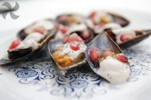 Mejillones en salsa de nueces y granada2