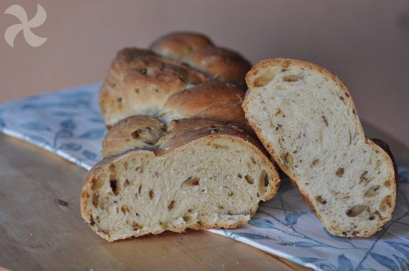 Trenza de pan de aceitunas - Recetas Thermomix