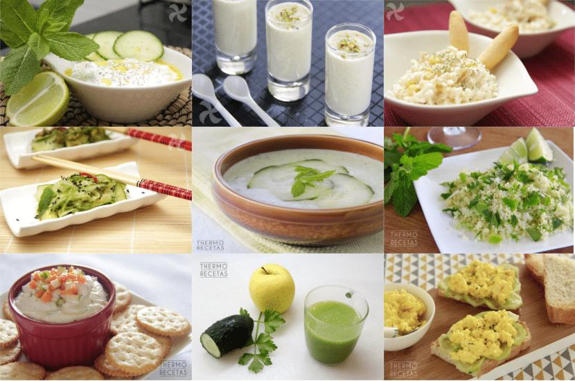 recopilatorio de 9 recetas con pepino