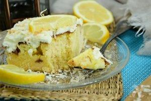 Tarta de limón y coco