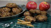 galletas de manzana con chocolate y avena