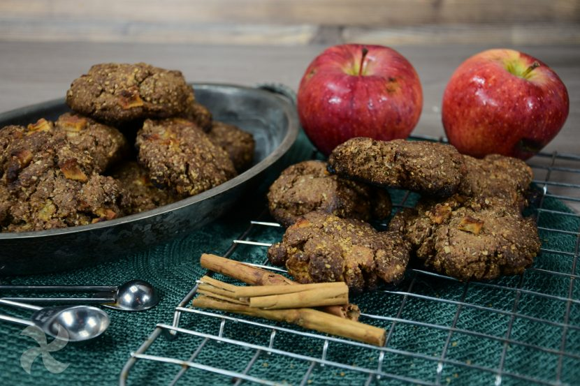 galletas de manzana con chocolate y avena