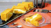 Bizcocho de calabaza con remolino de queso