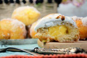 Abisinios con crema de limón y merengue