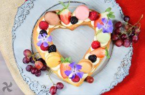 Tarta corazón para San Valentín