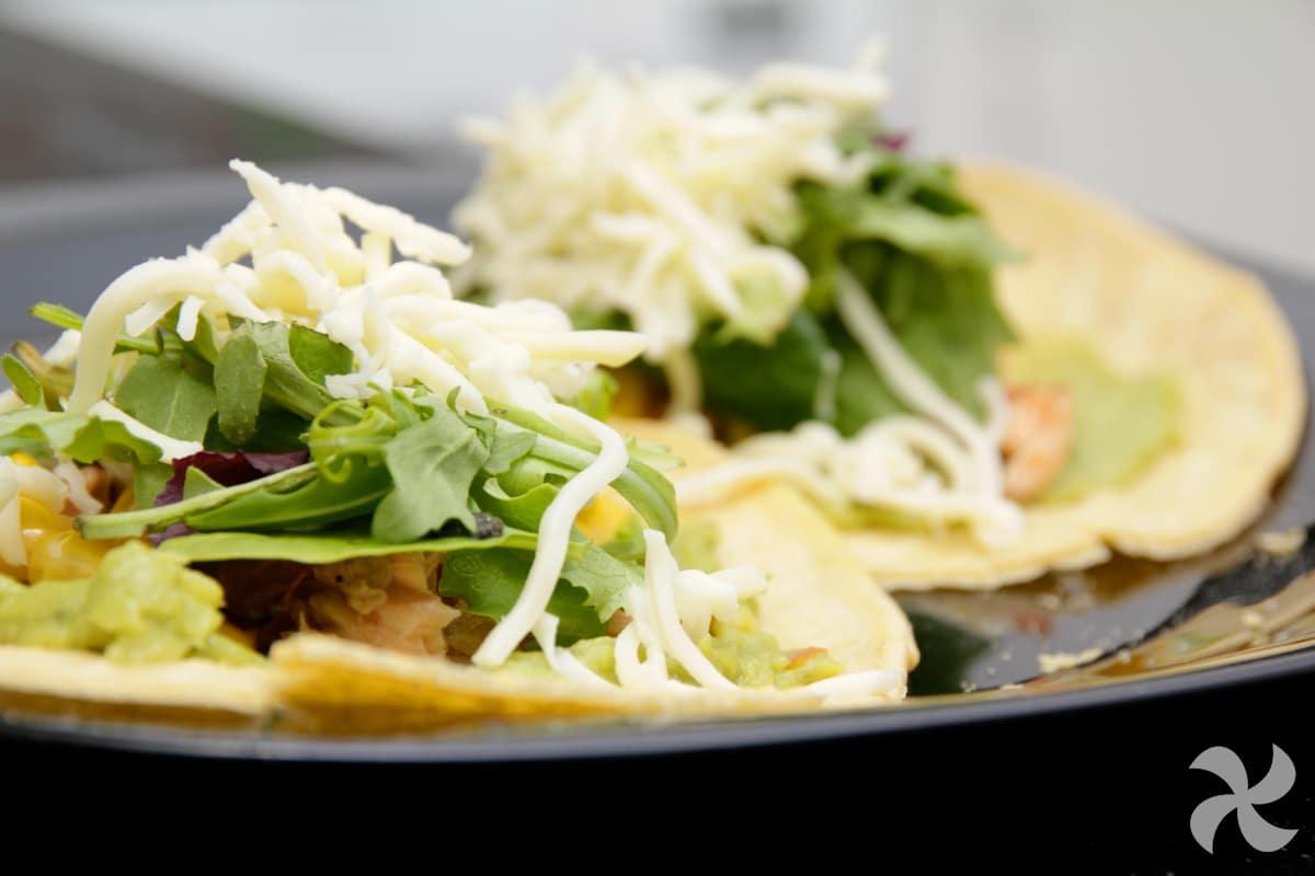 Tacos mexicano de salmón