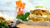 Tarta de zanahoria y piña con crema de queso
