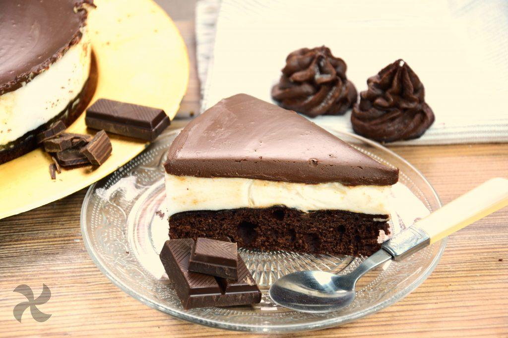 Tarta de merengue y chocolate