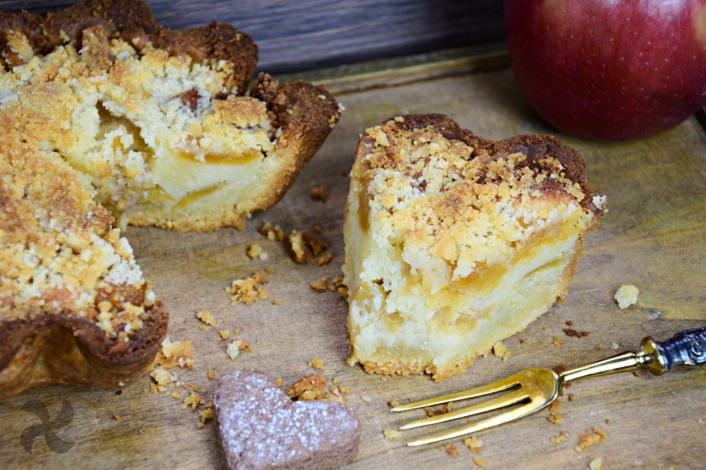 Pastel de manzana con crumble