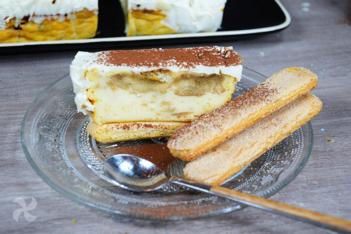 Pastel doble queso tiramisú