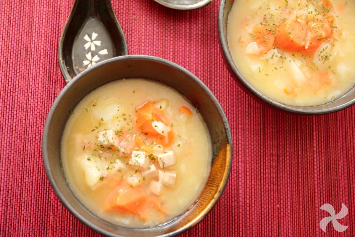 Sopa de verduras y chucrut