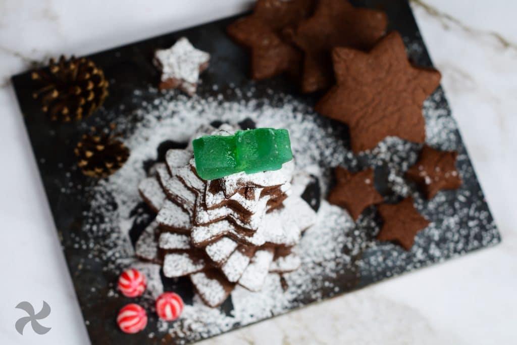 Galletas de mazapán y chocolate