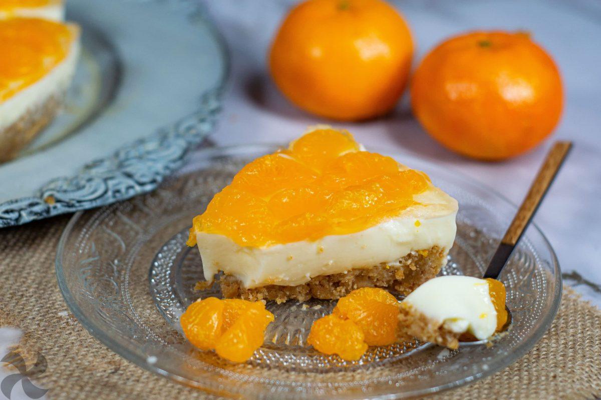 Tarta Panna Cotta con mandarinas