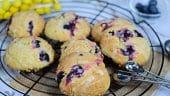 Galletas Muffin de limón con arándanos
