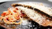 Berenjenas a la parmesana con espaguetis con tomate2