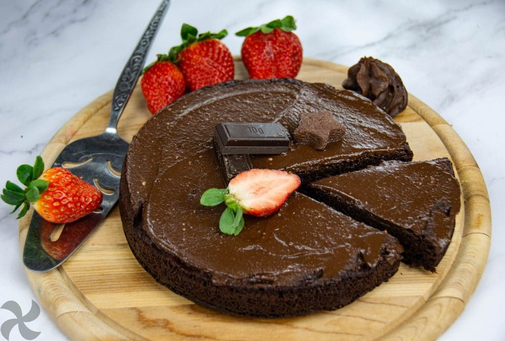 Tarta de chocolate light