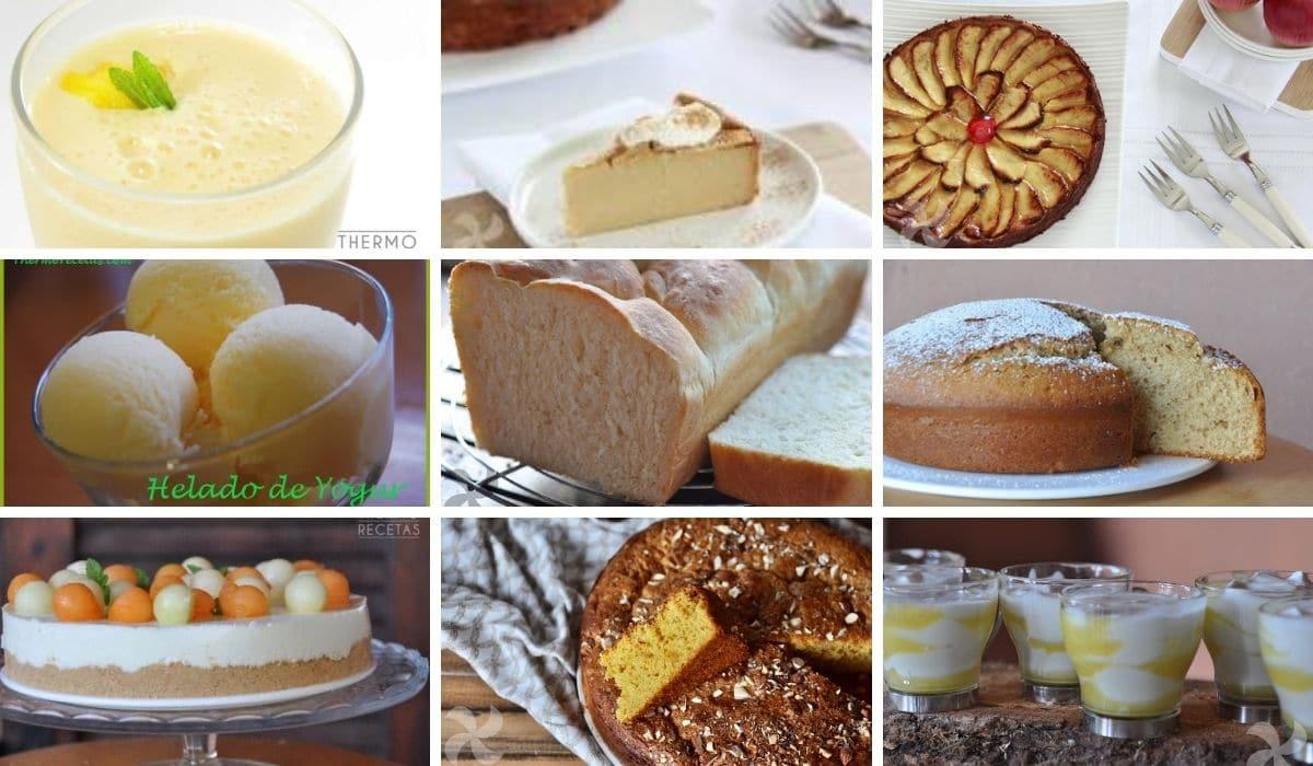 9 recetas con yogur