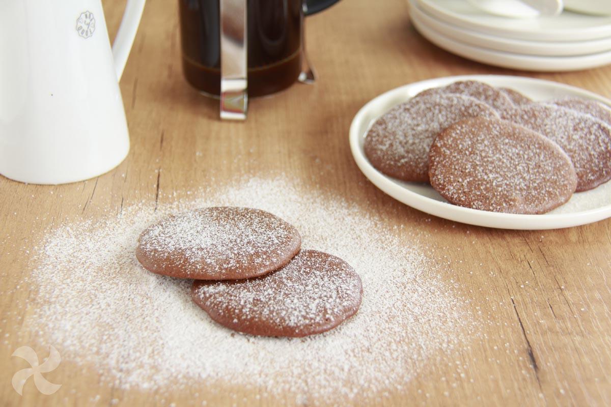 Galletas de chocolate y café sin gluten