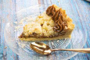 Tarta de coco con caramelo