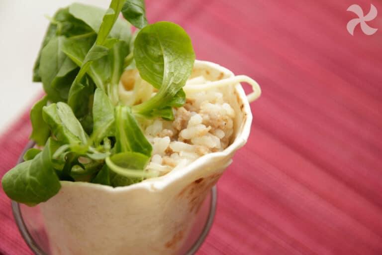 Burrito de arroz con carne