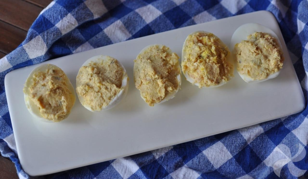 Huevos rellenos en Thermomix
