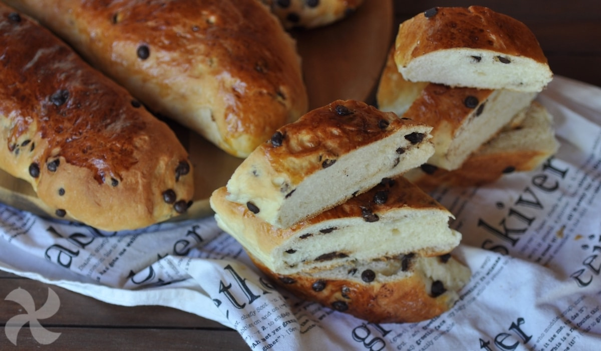 Pan dulce con chocolate